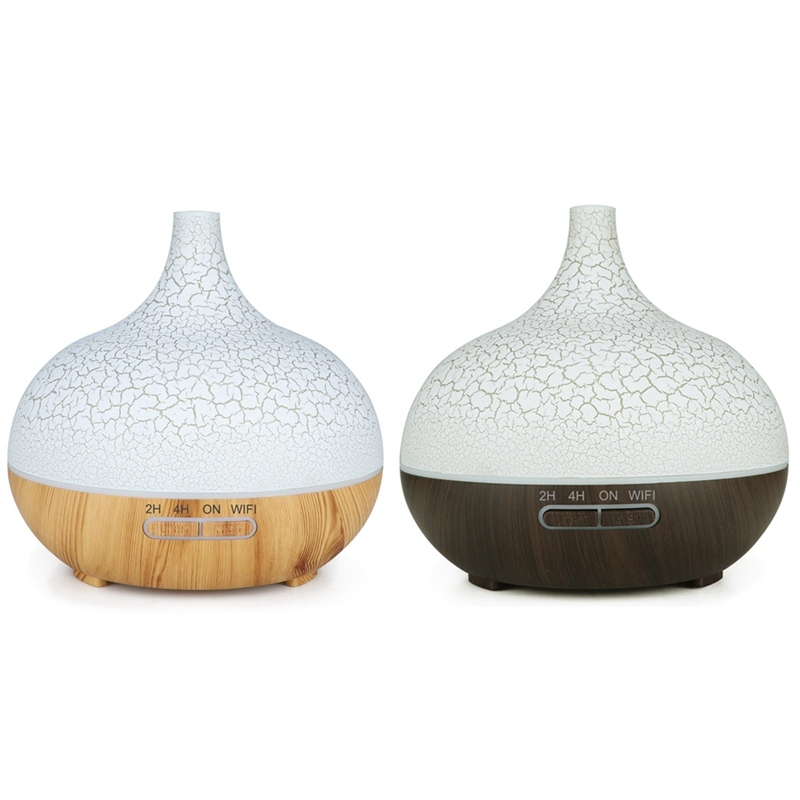 2 Pcs Smart WiFi Essential Oil Diffuser Air Humidifier Works with Alexa Google Home EU Plug Deep Wood & Light Wood Singapore