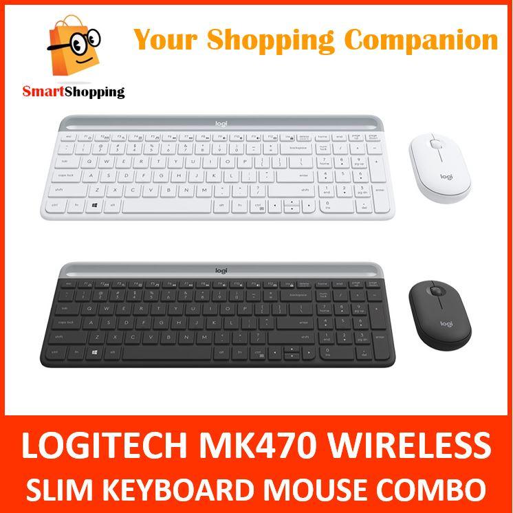 Logitech MK470 Combo Wireless Slim Keyboard Mouse Graphite Off White 1 Year SG Warranty Singapore