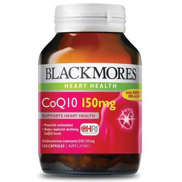 Buy Blackmores CoQ10 150mg 125 Capsules Exclusive Size Singapore