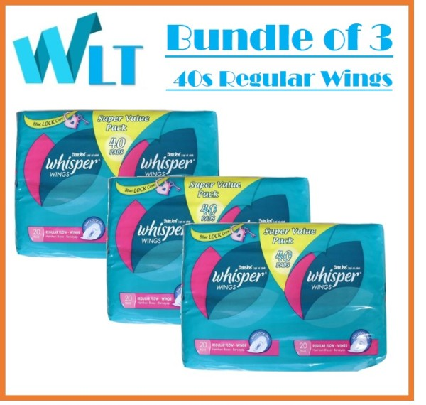 Buy [Bundle of 3] Whisper Wings Regular Flow 40 Pads Singapore