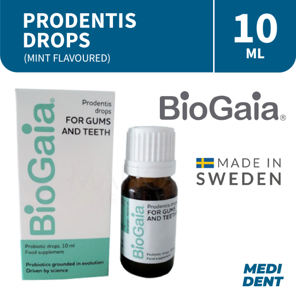 Buy BIOGAIA PRODENTIS DROPS 10ML - GUMS AND TEETH PROBIOTIC Singapore