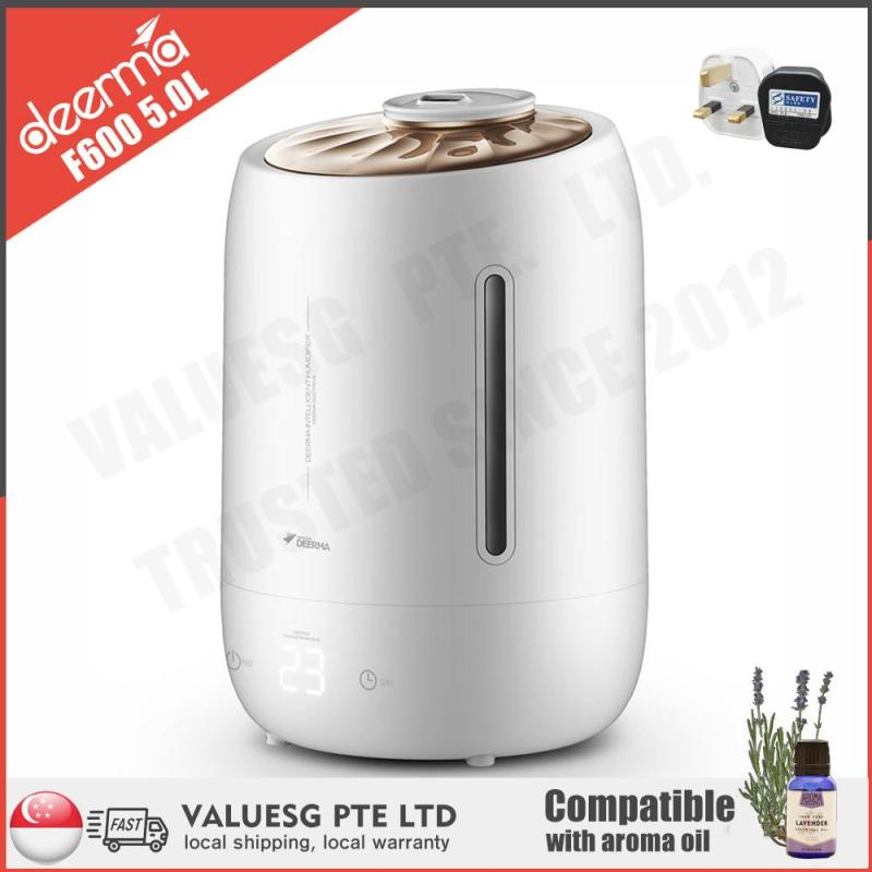 DEERMA F600 ULTRASONIC AIR HUMIDIFIER/5L LARGE CAPACITY/AROMA DIFFUSER/SG Plug/ Up to 6 Months SG Warranty Singapore
