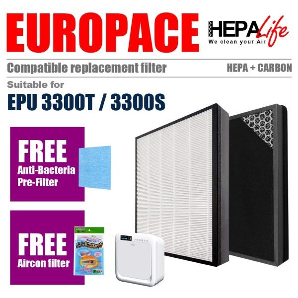 EUROPACE EPU3300T EPU3300S EPU 3300T 3300S Compatible Hepa Filter - Hepalife Singapore
