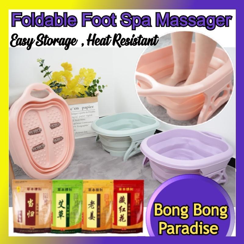 Buy [LOCAL] Foldable Foot Spa Massager Bucket / Collapsible Foot Bath Basin / Chinese Herbal Detox Foot bath / Foot Reflexology Singapore