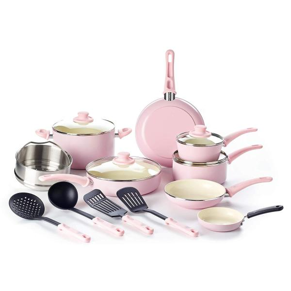 GreenLife Soft Grip 16pc Ceramic Nonstick cookware ( Ready Stock ) Singapore