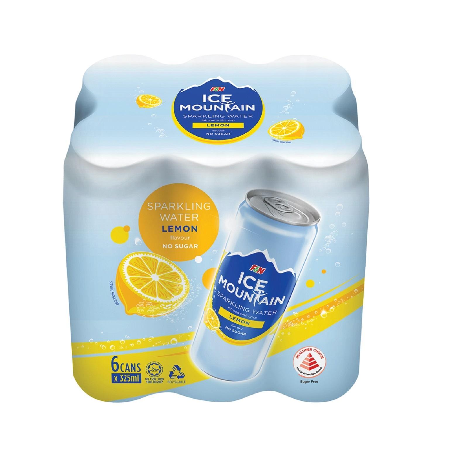 Ice Mountain Lemon Sparkling Water 6s Pack
