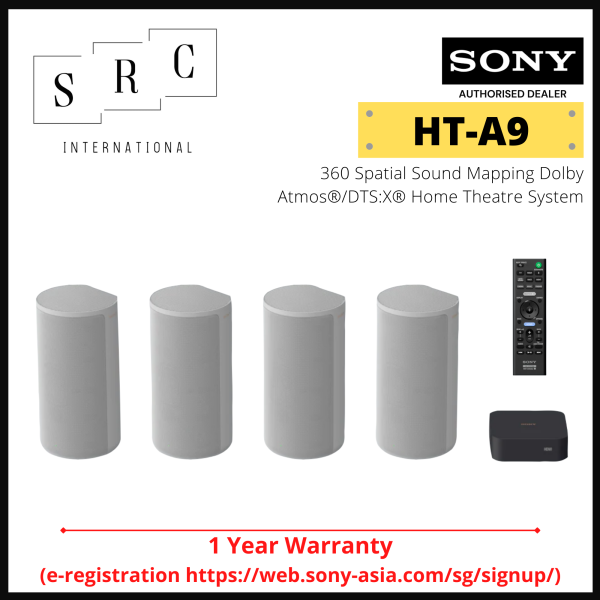 Sony HT-A9 360 Spatial Sound Mapping Dolby Atmos®/DTS:X® Home Theatre System with Free Concierge Service Singapore