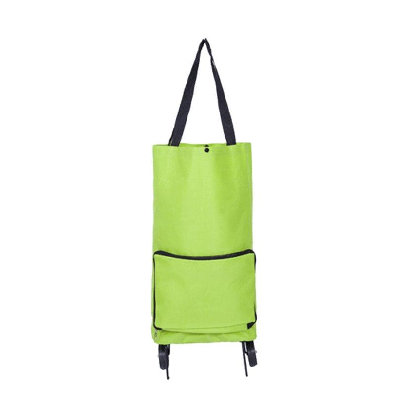 TOP Waterproof Oxford Cloth Foldable Supermarker Shopping Trolley Wheel Bag