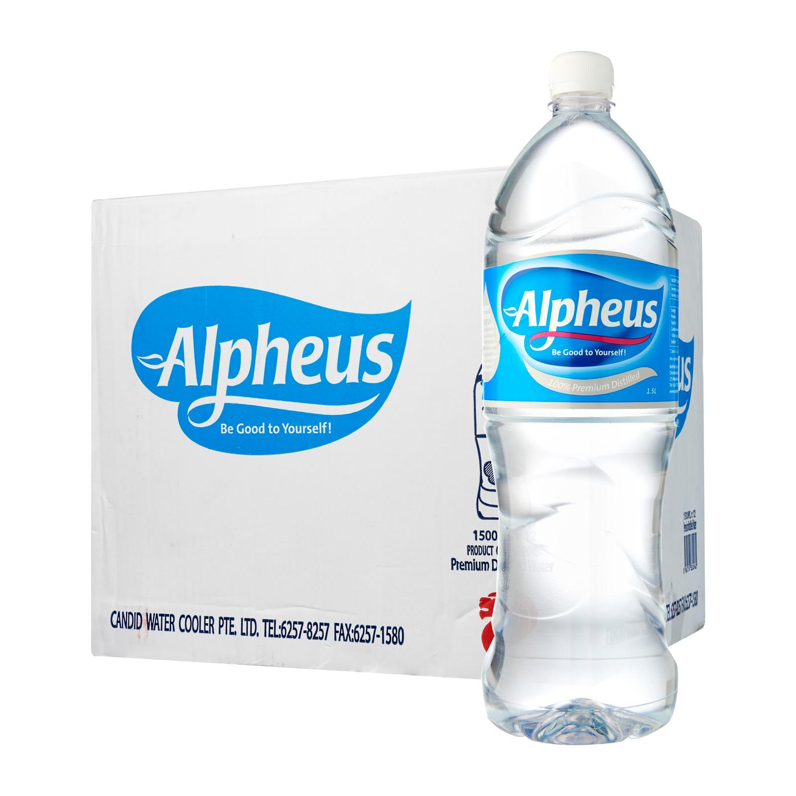 Alpheus Distilled Pure Drinking Water - Case