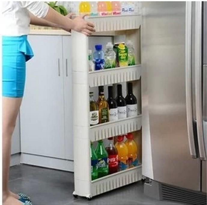 Between Removable Storage Rack Organizing Rack Edges Bathroom Kitchen Shelves Shelf Refrigerator Storage Rack Gap Narrow