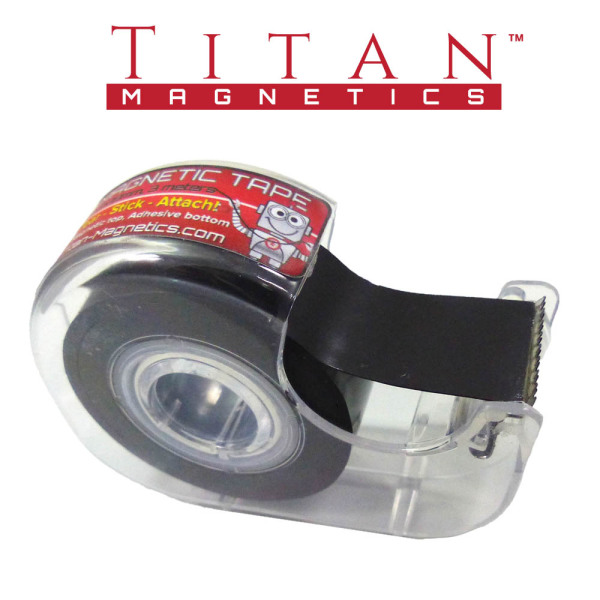 Magnetic Adhesive Tape 19mmx3m with Clear Dispenser