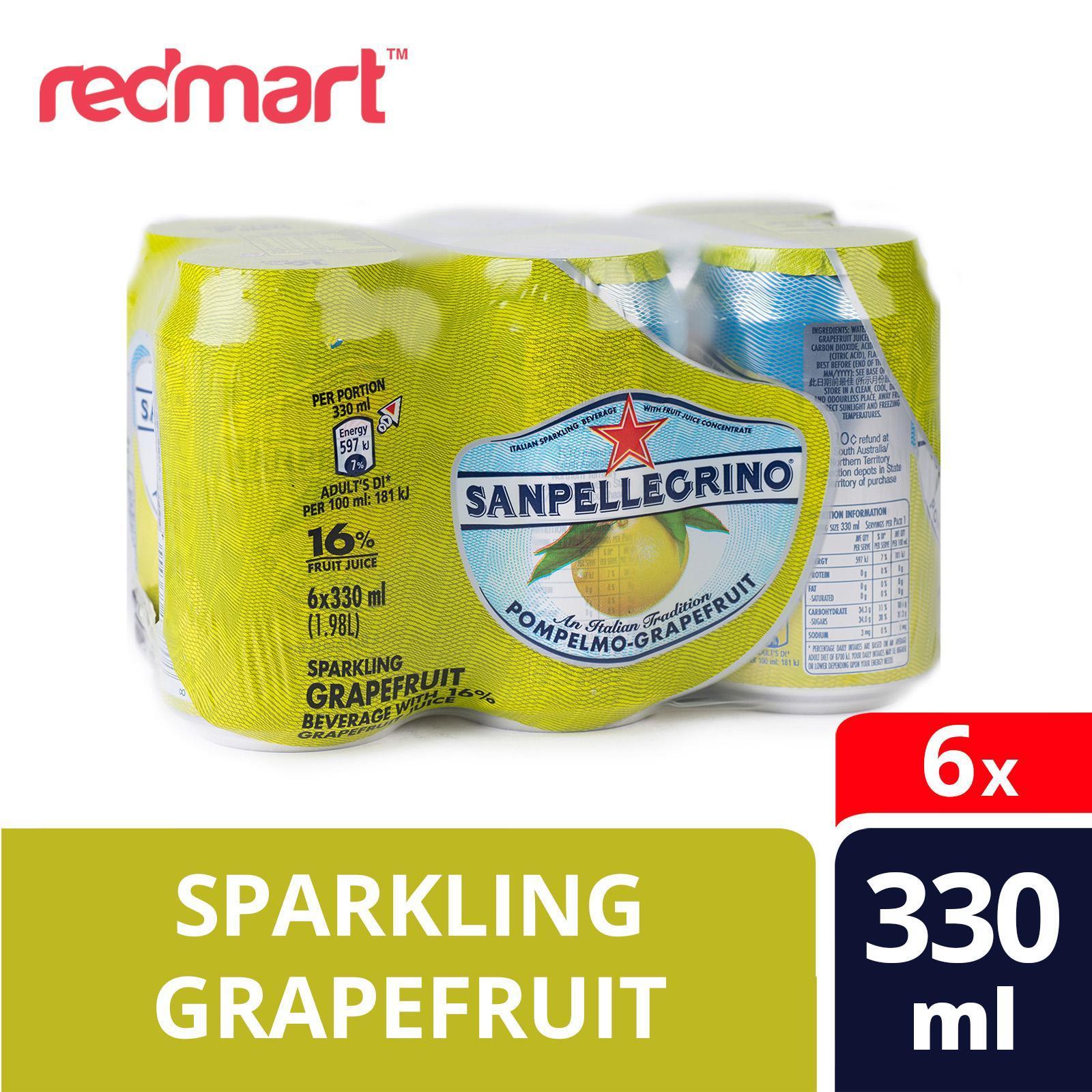 San Pellegrino Sparkling Fruit Beverage, Pompelmo - Grapefruit
