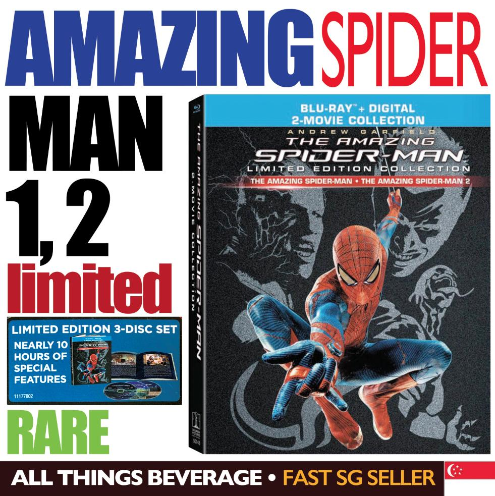 The Amazing Spider-Man 1 & 2 Collection Collectors Edition Blu-Ray By All Things Beverage
