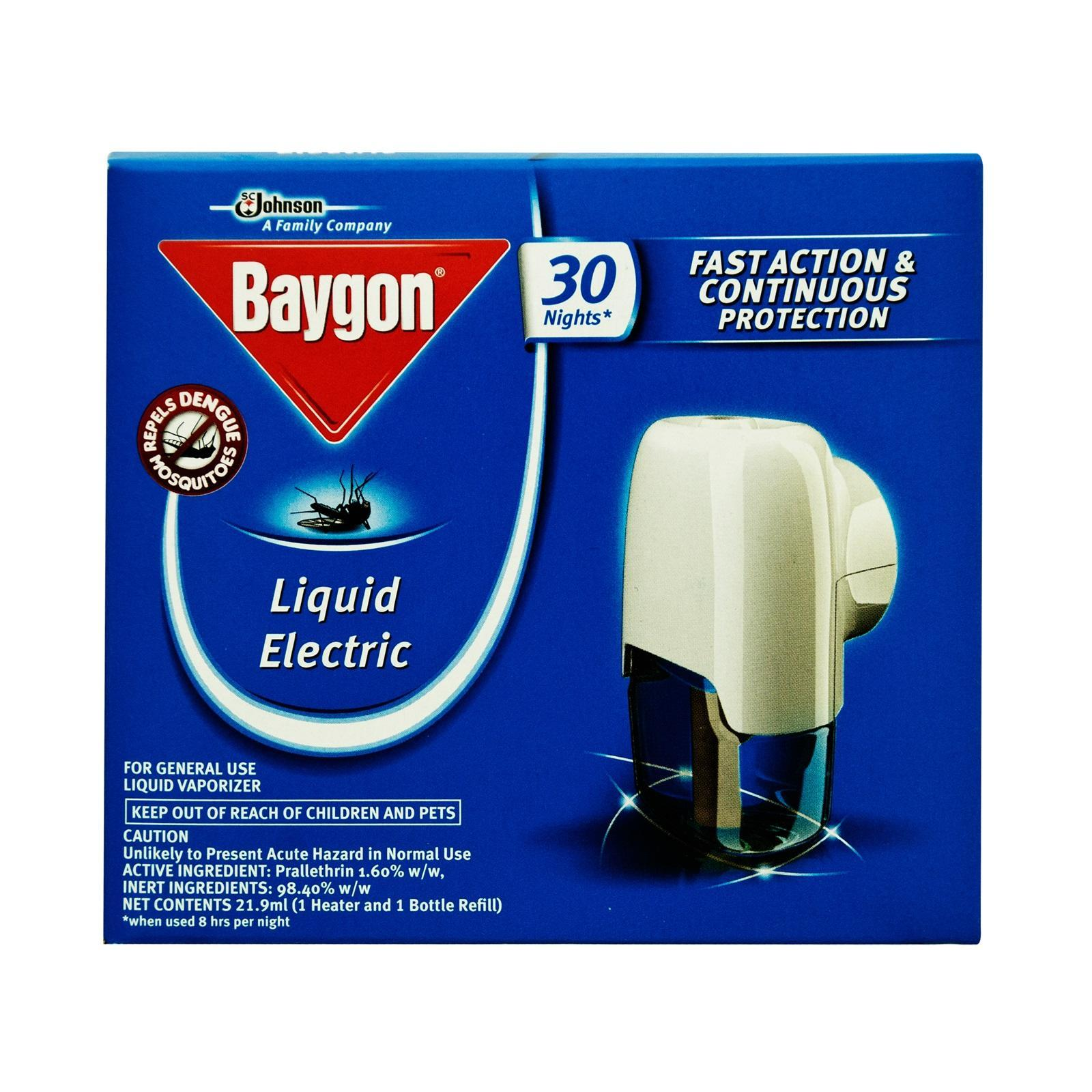 Baygon 30 Nights Liquid Electric Repeller By Redmart.