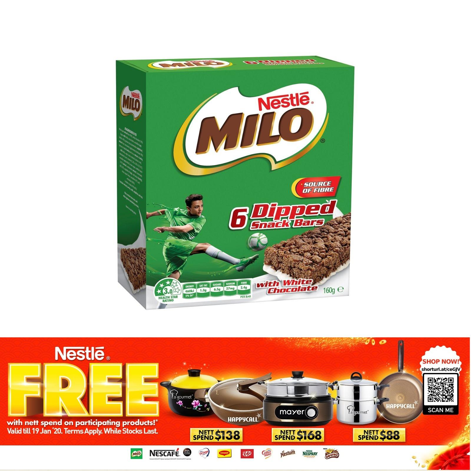 Nestle Milo Snack Bar Dipped With White Chocolate