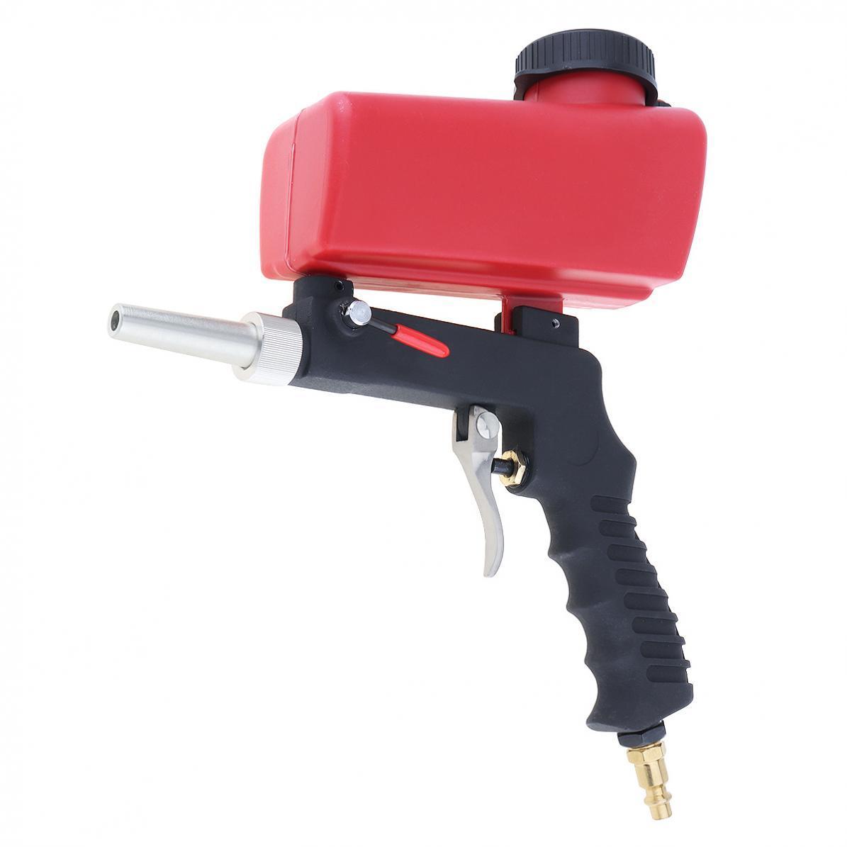 OUTOP Portable Gravity Sandblasting Tool Pneumatic Small Sand Blasting Machine(Red)