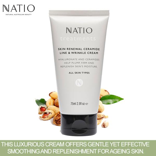 Buy Natio Treatments Skin Renewal Ceramide Line & Wrinkle Cream 75ml *NEW 2021 Singapore