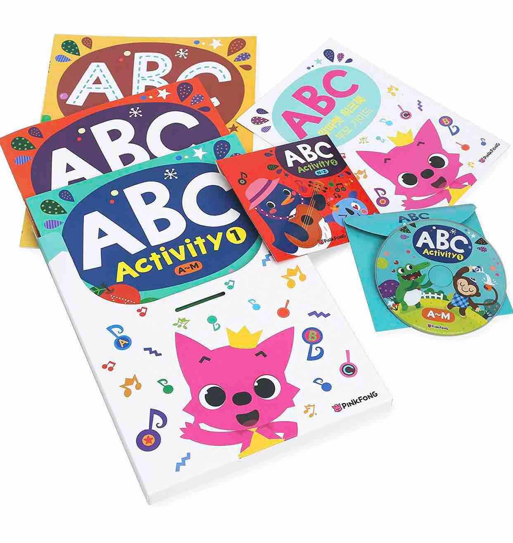 PINKFONG ABC Activity Set (English Set) Workbook + DVD