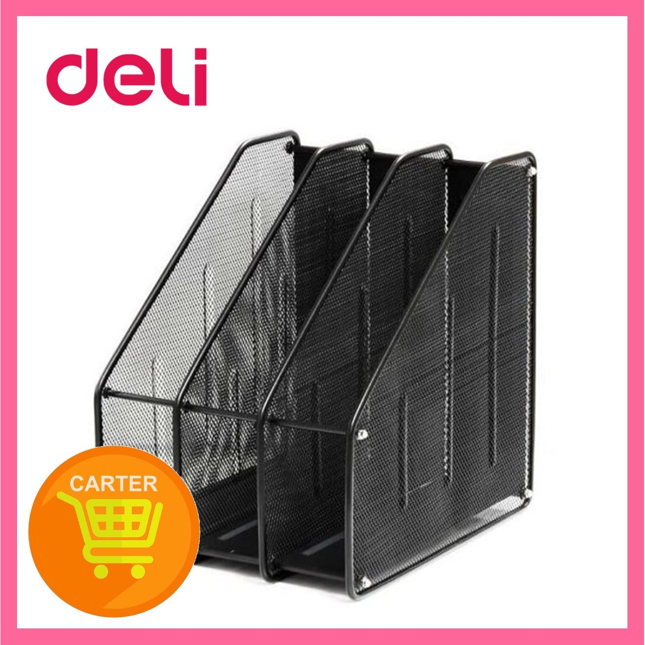 Deli 3 Compartment Mesh Magazine Holder 9197