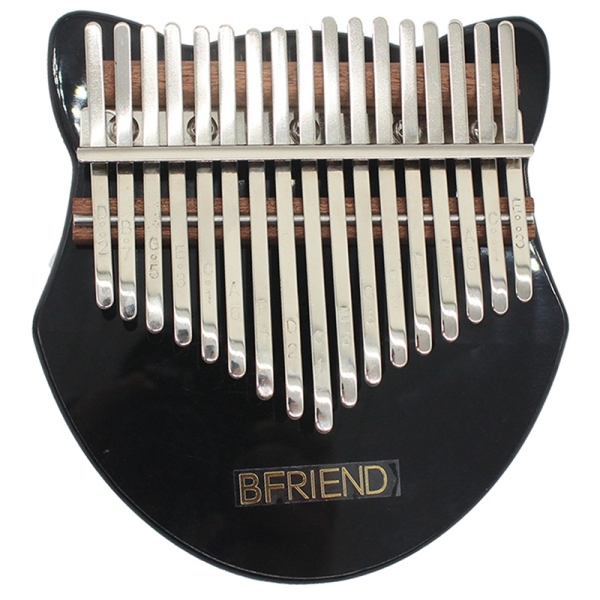 BFRIEND 17 Keys, Acrylic Thumb Piano Note Carved Starter Finger Piano with Kalimba Case Tune Hammer