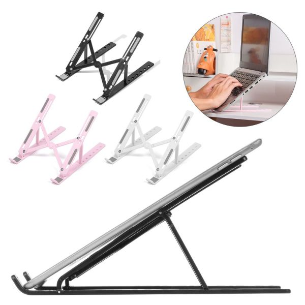TALWSE6T Portable Adjustable Laptop Stand Folding Portable Desktop Holder Office Supplies Foldable Support For Notebook Computer Macbook Pro Air iPad New