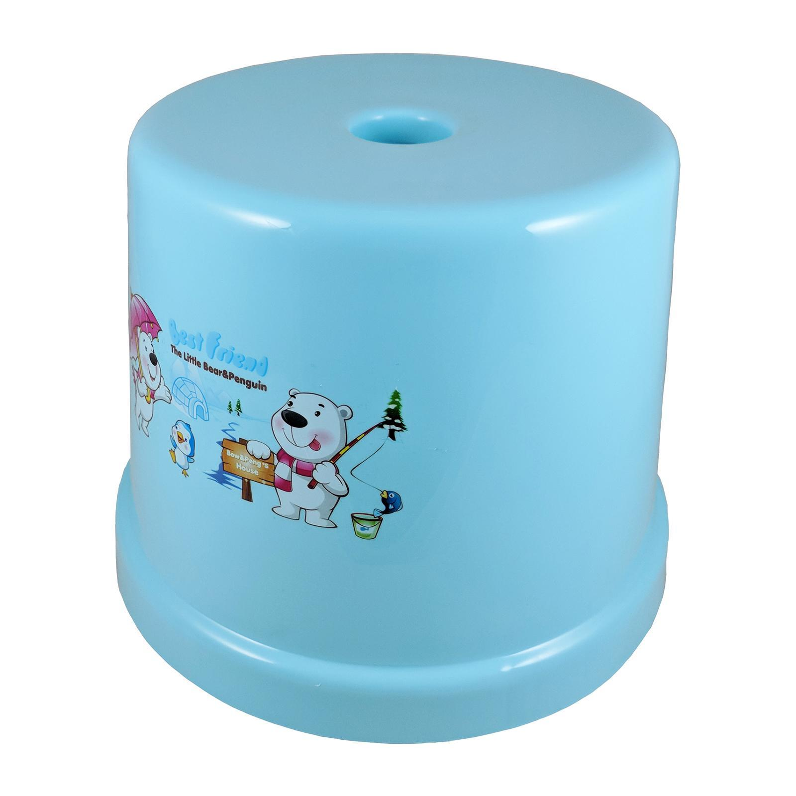 KangjiaBao Winter Time Plastic Round Stool 23 Cm (Blue)