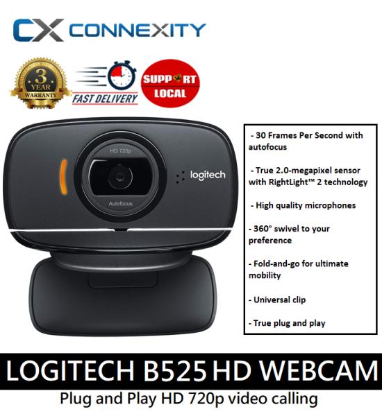 [LOCAL WARRANTY] Logitech B525 Business Webcam | Logitech B525 HD Webcam | B525 | Webcam B525 l HD Webcam | Plug and Play HD Webcam | Plug and Play Webcam l Logitech Webcam l Logitech B525 Webcam l Webcam l 720p Webcam l Logitech Webcam 720p