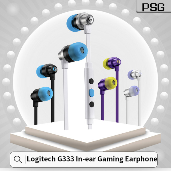 Logitech G333 Wired Gaming Earphones with Mic/3.5 mm Connector/ USB-C Adapter and Dual Drivers Black / White / Purple / KDA 1 Year Local Warranty Singapore