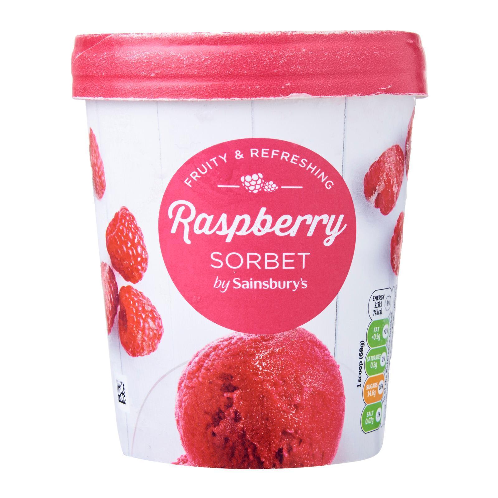 Sainsbury's Raspberry Sorbet - Frozen