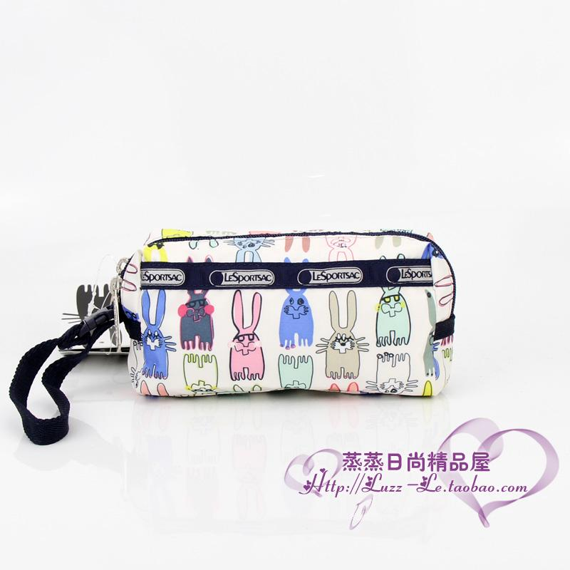 Womens Accessories Package Double Layer Zipper Handbag Carrying Strap Package Purse 8160