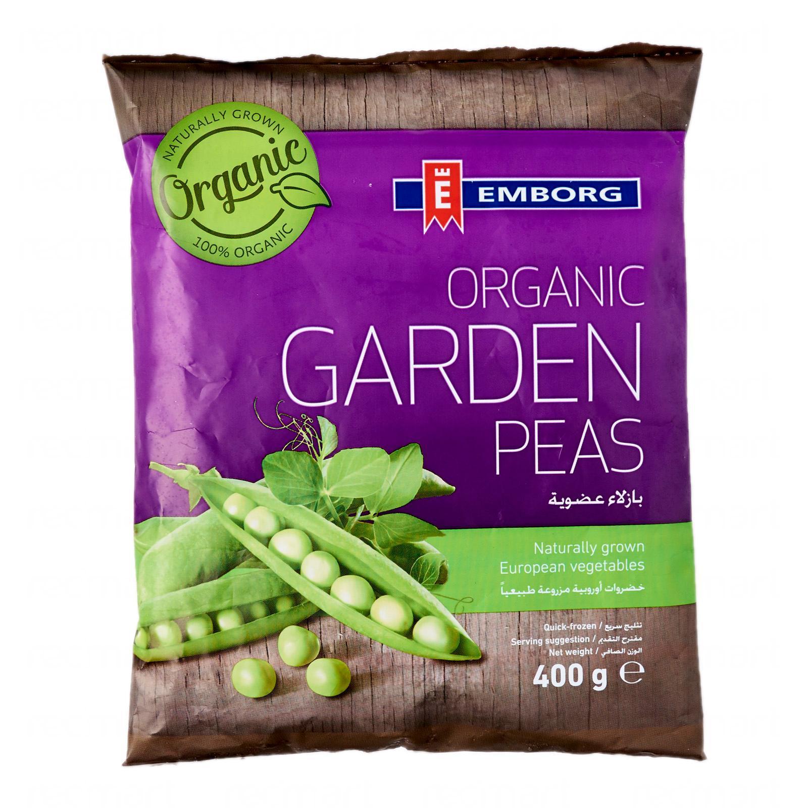 Emborg Organic Garden Peas - Frozen By Redmart.