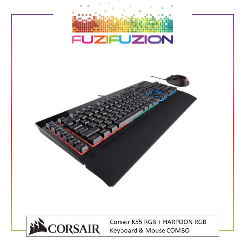 Corsair K55 RGB + HARPOON RGB Keyboard & Mouse COMBO Singapore