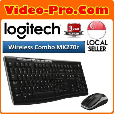 Logitech MK270R 2 4Ghz Wireless Desktop Mouse and Keyboard Combo English