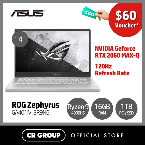 [Same Day Delivery] Asus ROG Zephyrus G14 GA401IV 14 Inch Full HD 120Hz Refresh Rate Gaming Laptop | Ryzen 9-4900HS | 16GB RAM | 1TB SSD | NVIDIA GeForce RTX-2060 Max-Q