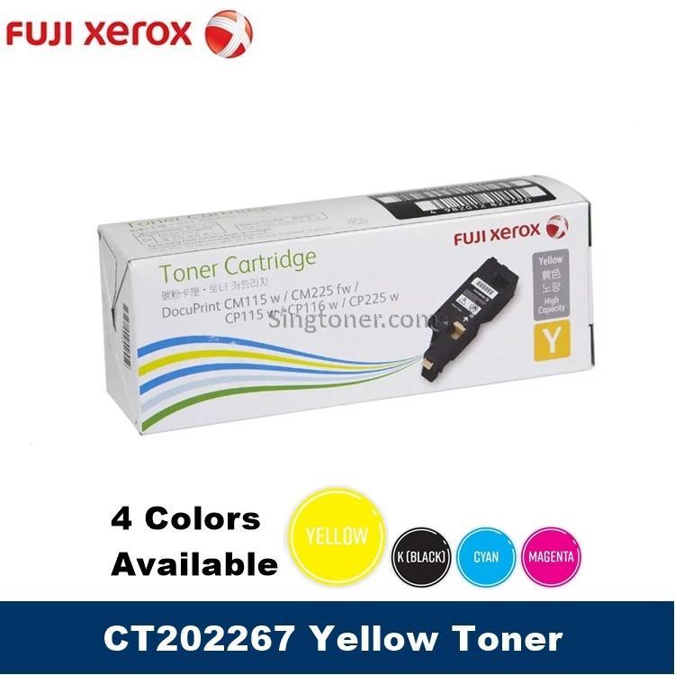 [original] Ct202264 Ct202265 Ct202266 Ct202267 - Fuji Xerox Black Cyan Magenta Yellow Toner For Docuprint Cm115w / Cm225fw / Cp115w / Cp116w / Cp225w Cm115 Cm225 Cp115 Cp116 Cp225 By Singtoner.