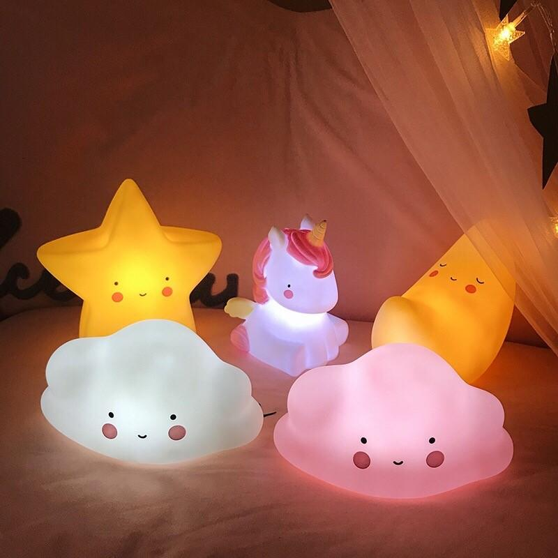 Creative ins Cute LED Night Light Table Lamp Kids Girl Room decorative Xmas Gift