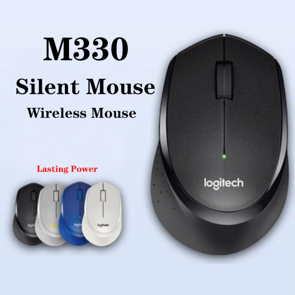 M330 Wireless Mouse Silent Mouse with 2.4GHz USB 1000DPI Optical Mouse for Office Home Using PC/Laptop Mouse Gamer