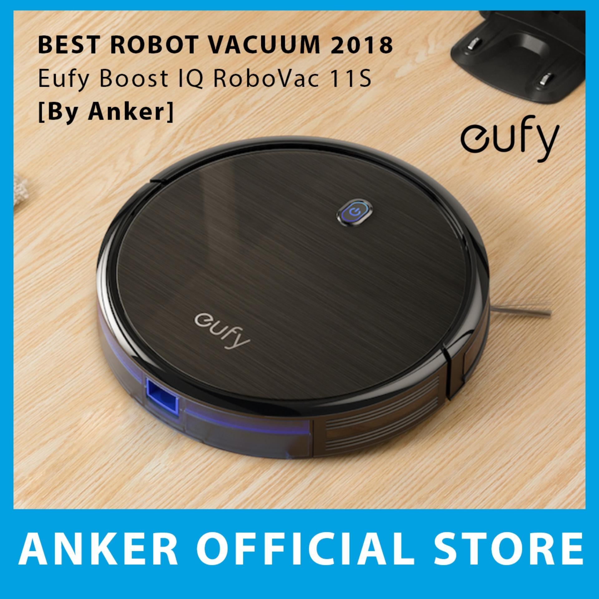 Eufy Boost Iq Robovac 11s (slim), 1300pa Strong Suction, Super Quiet, Self-Charging Robotic Vacuum Cleaner, Cleans Hard Floors To Medium-Pile Carpets By Anker Singapore Store.