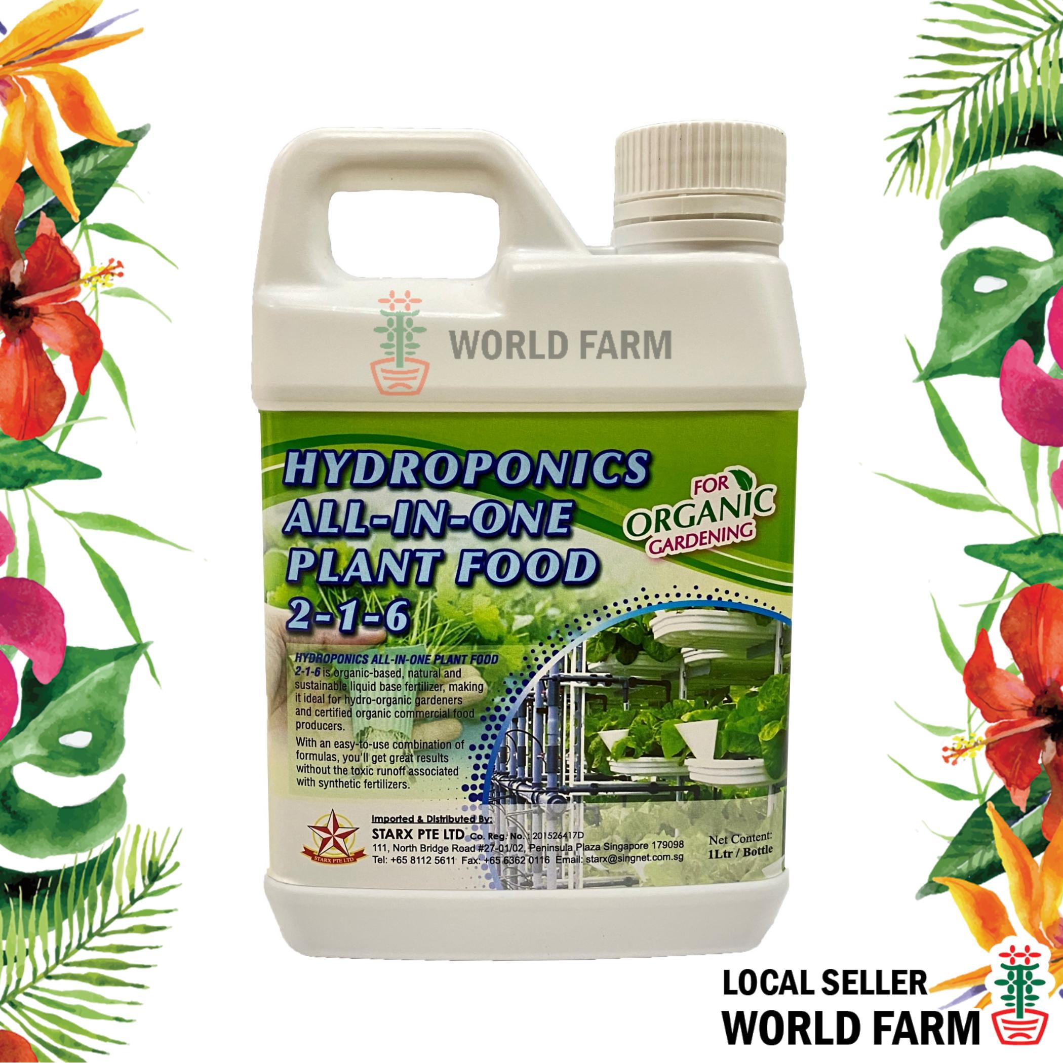 Hydroponics All-In-One Plant Food Organic Fertiliser / Fertilizer 1L