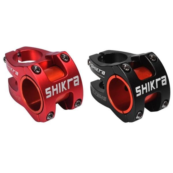 Phân phối 2x SHIKRA MTB Aluminum Alloy Bike Bicycle Stems 35MM Fixed Short Handle Bar Stem Handlebar Stem,Black & Red