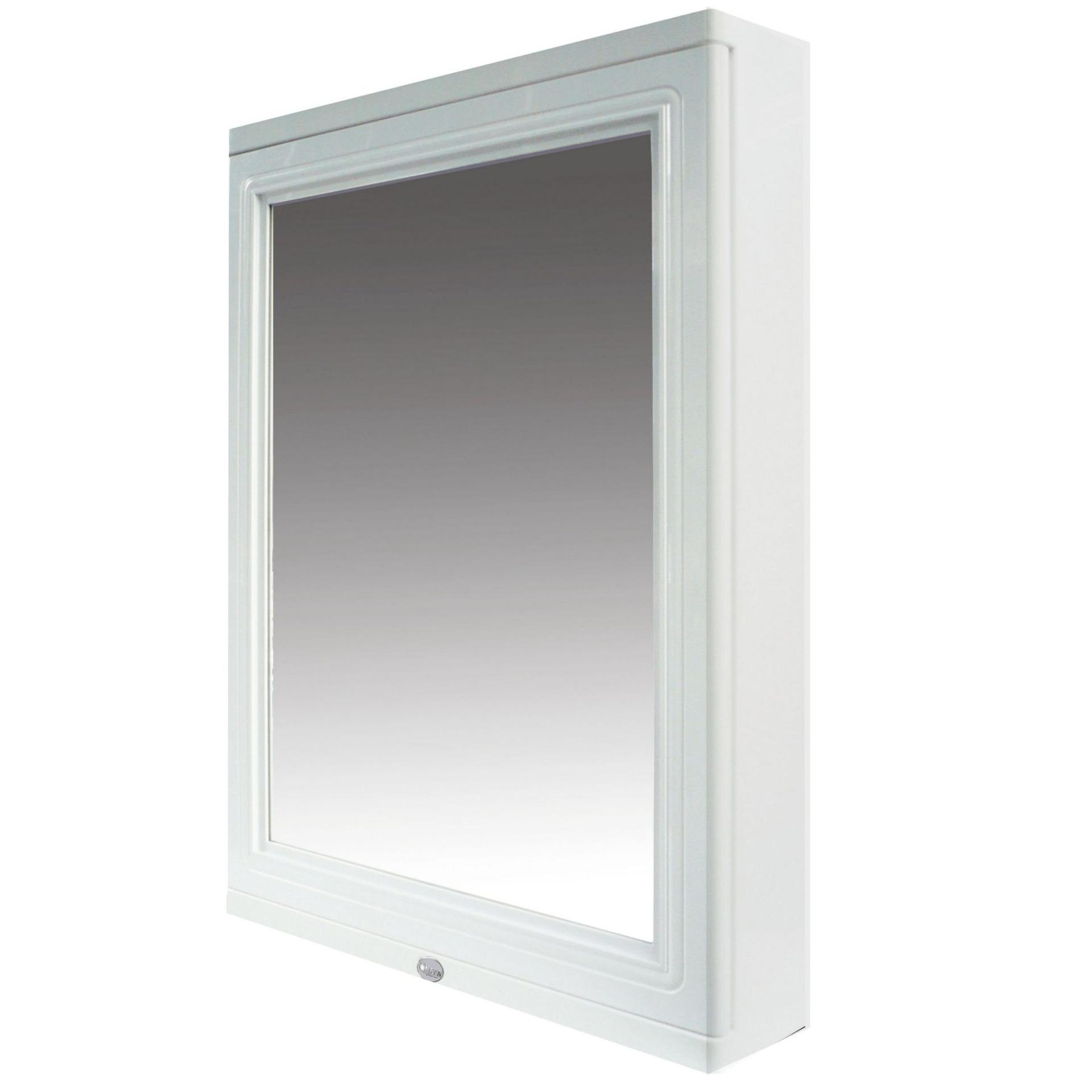 Queen Space Waterproof Bathroom Mirror Cabinet With Nano Coating - (white) By Legato Resources Pte Ltd