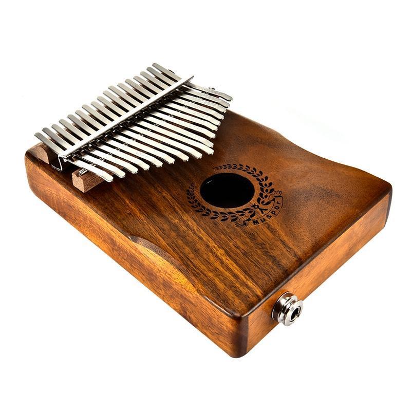 Kalimba 17 Keys Thumb Piano builts-in EVA high-performance protective box, tuning hammer and study instruction