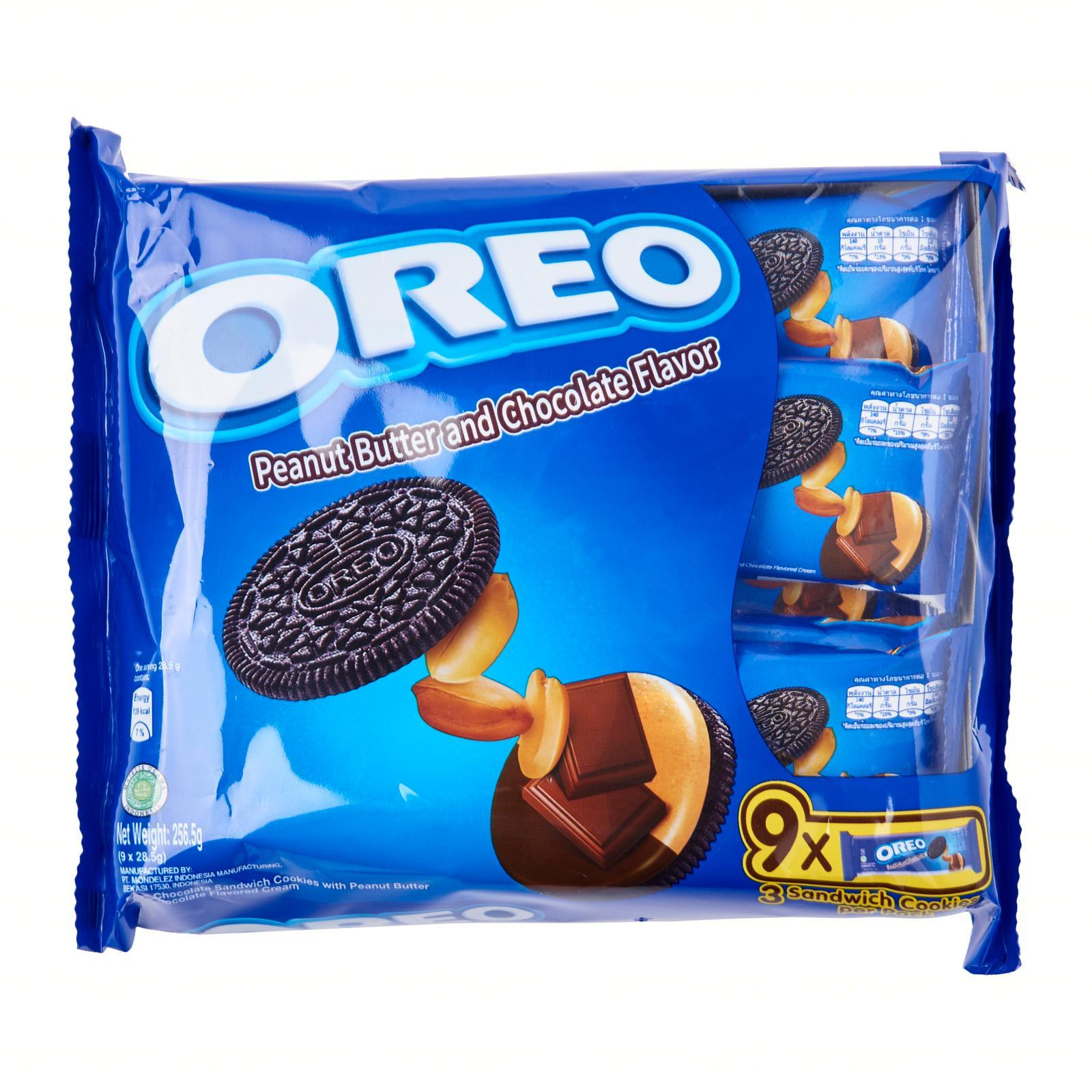 OREO Chocolate Sandwich Cookies - Peanut Butter 9sX29.4g
