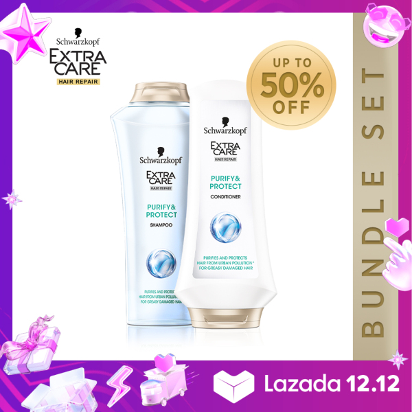 Buy Schwarzkopf Extra Care Purify & Protect Shampoo & Conditioner Set Singapore
