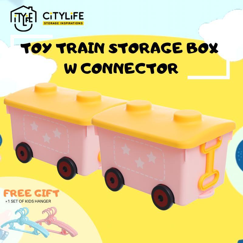 [Bundle of 2] - Citylife Toy Train Storage Box - 18L