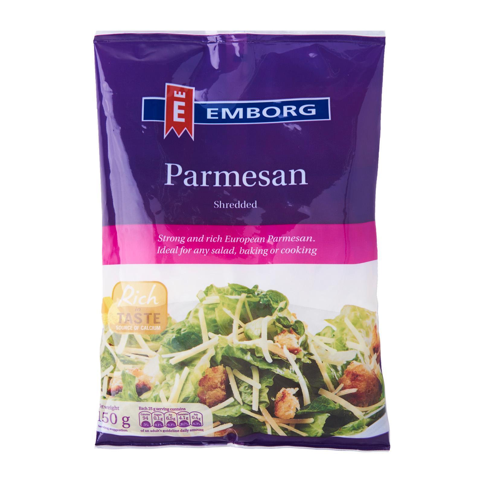 EMBORG Natural Parmesan Shredded 150g