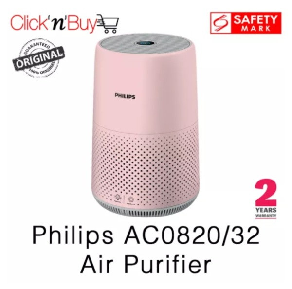 Philips AC0820 Air Purifier. Available in White and Exclusive Pink. Beat the Haze. Removes 99.5% of particles as small as 0.003um. Safety Mark Approved. 2 Years Warranty. Singapore