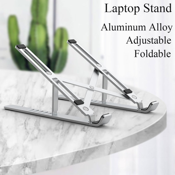 WIWU Aluminum Alloy Laptop Stand Adjustable Tablet Bracket for 10-17 inch Tablets Support Notebook Foldable Stand for MacBook