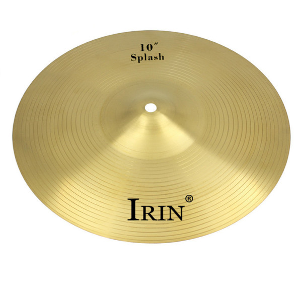 IRIN Copper Alloy Crash Cymbal Drum Set Durable Brass Alloy Cymbal For Percussion Instruments Players Beginners 10 inch