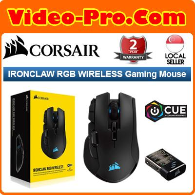 Corsair Ironclaw Wireless RGB FPS and MOBA Gaming Mouse 18,000 DPI Optical  Sensor Sub-1 ms Slipstrea m Wireless CH-9317011-NA Singapore